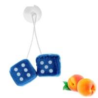 Ароматизатор подвесной кости, кубики, синий, персик