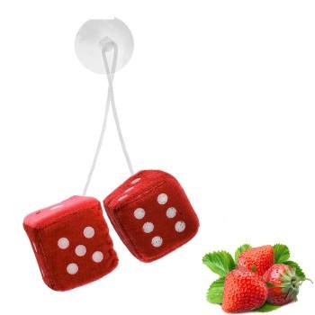 Ароматизатор подвесной кости, кубики, красный, клубника