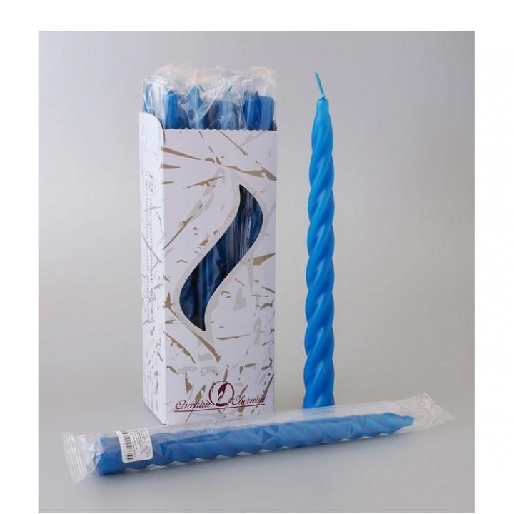 Свеча витая синяя
