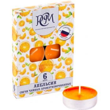 """Набор чайных свечей """"Апельсин"""" 6 штук"""