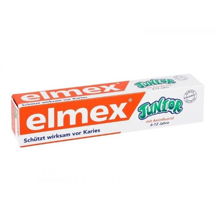 Детская зубная паста Elmex Junior от 6 до 12 лет, 75 мл