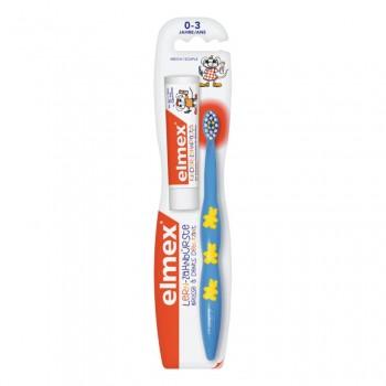 Elmex детская зубная щетка+зубная паста 0-3лет