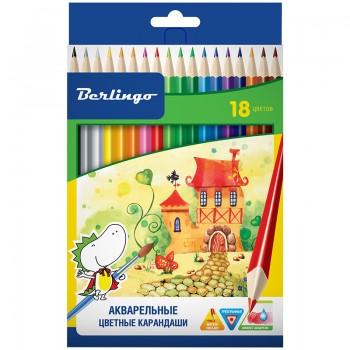 """Карандаши акварельные """"Сказочный город"""", 18 цветов"""