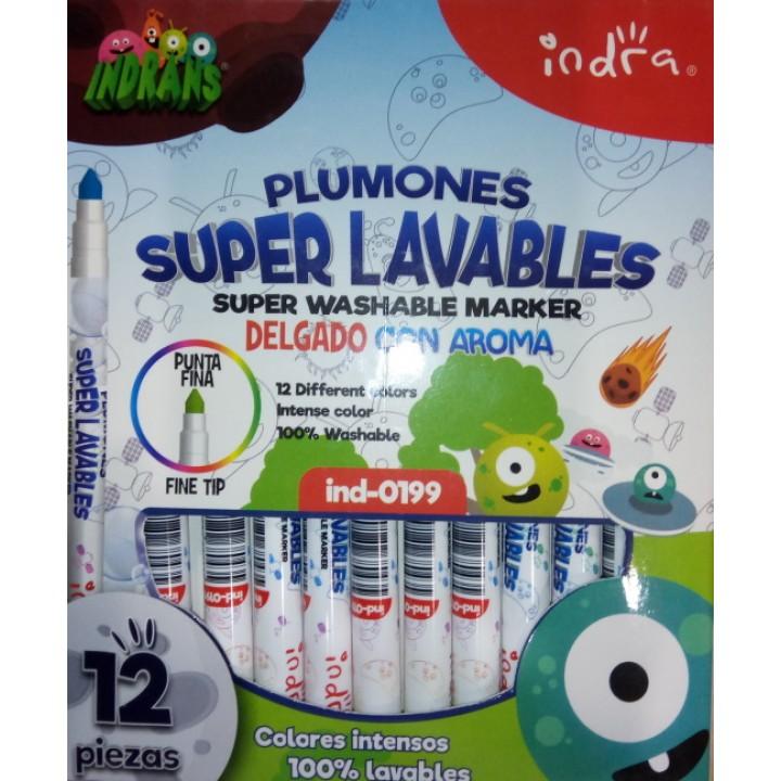 Фломастеры ароматизированные INDRA суперсмываемые 12 штук