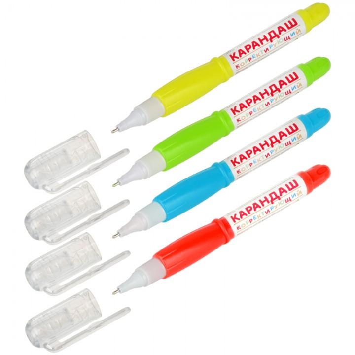 Корректирующий карандаш ArtSpace, металлический наконечник, 4 мл