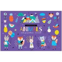 """Альбом для рисования 12л., А4, на скрепке ArtSpace """"Животные. Забавные зверушки"""""""
