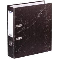 Папка-регистратор OfficeSpace 70мм, мрамор, черная