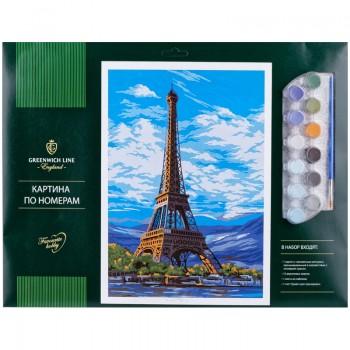 """Картина по номерам Greenwich Line """"Париж"""" A3, с акриловыми красками"""