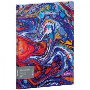 """Папка с 30 вкладышами Berlingo """"Color Storm"""", 17мм, 600мкм, с внутр. карманом"""