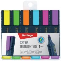 Набор маркеров-текстовыделителей 6 цветов Berlingo