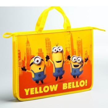 """Папка с ручками А4 """"Yellow Bello!"""", Гадкий Я"""