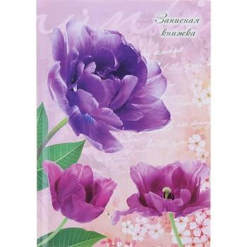 Записная книжка А5, 80 листов «Лиловые тюльпаны»