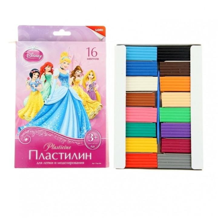 """Пластилин 16 цветов 320 г Disney """"Принцессы"""""""