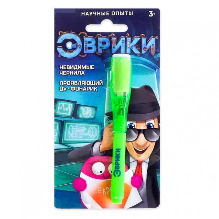 Ручка с чернилами и фонариком «Эврики»