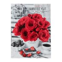 Ежедневник недатированный А5, 80 листов «Розы и клубника. Контраст», твёрдая обложка