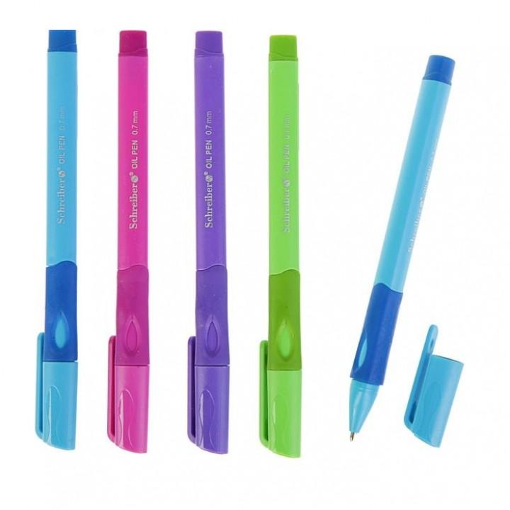 Ручка шариковая для левшей, узел 0.7 мм, чернила синие на маслянной основе