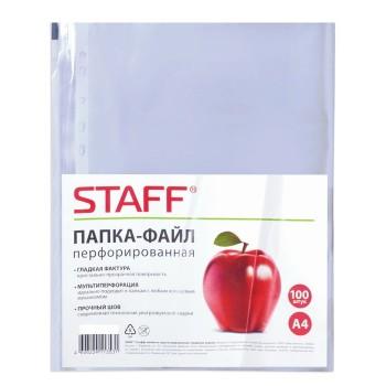 Файл-вкладыш А4 30 мкм STAFF, 100 штук