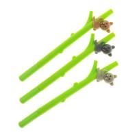 Ручка шариковая, мишка на бамбуке, панда на бамбуке