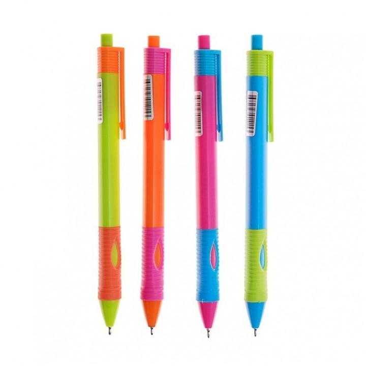Ручка шариковая автоматическая для левшей, узел 0.7 мм, чернила синие