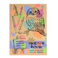 Скетчбук А5, 80 листов «Нарисуй свой день», твёрдая обложка