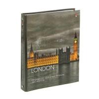 Тетрадь на кольцах А5, 160 листов «Города», твёрдая обложка, глянцевая ламинация, со сменным блоком