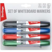 Набор маркеров для доски 4 цвета 2.0 мм Berlingo