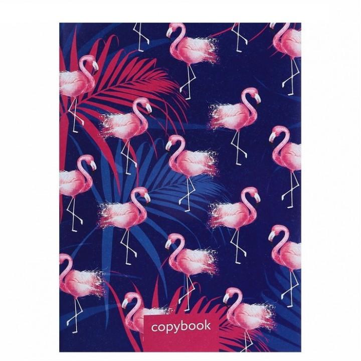 "Тетрадь А4, 48 листов клетка ""Фламинго 2"""