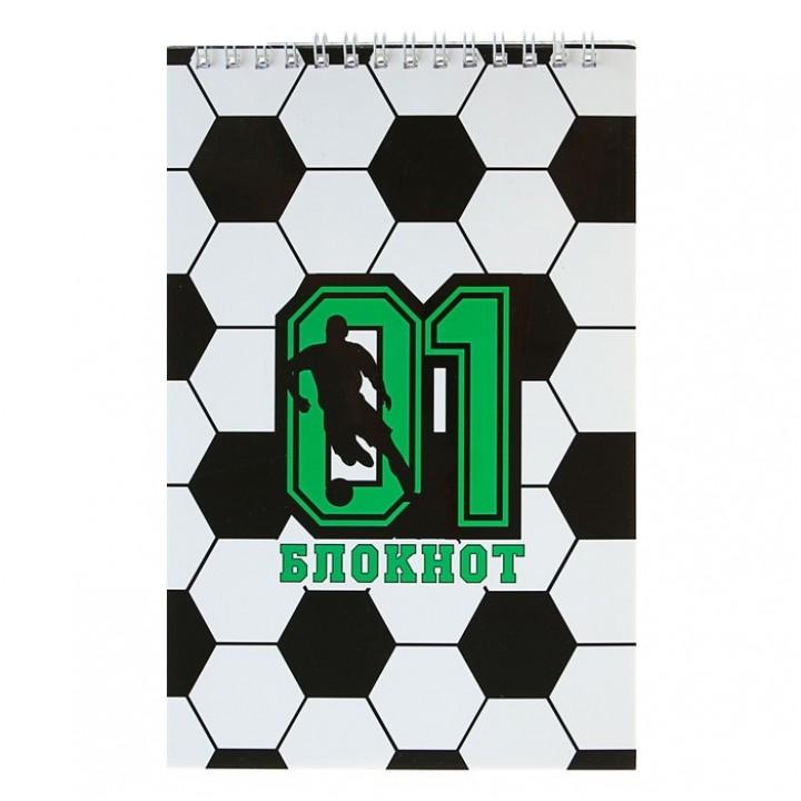 Блокнот А5, 40 листов на гребне «Футболист»