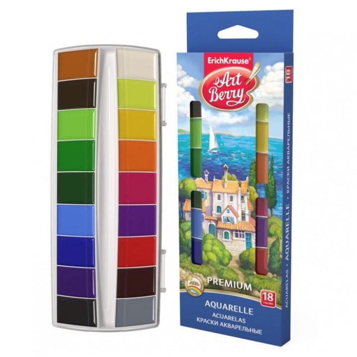 Акварель 18 цветов ArtBerry Premium, в пластиковой коробке