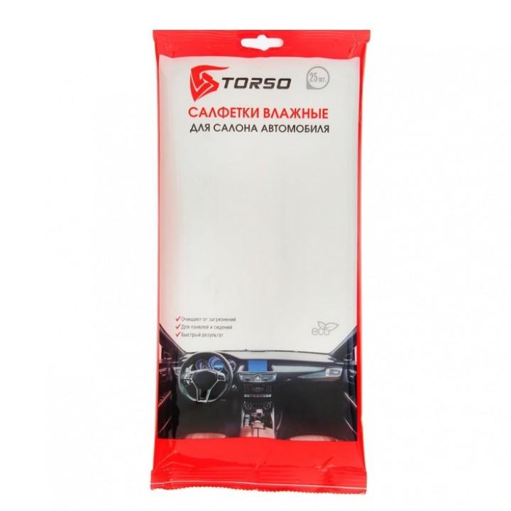 Влажные салфетки TORSO для салона автомобиля 25 шт.
