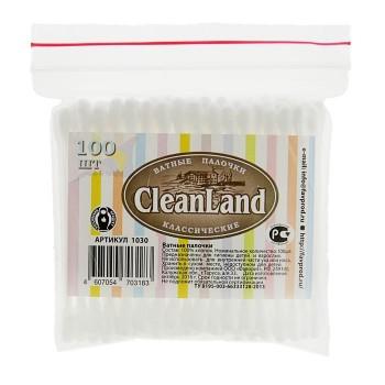Ватные палочки CleanLand, 100 шт