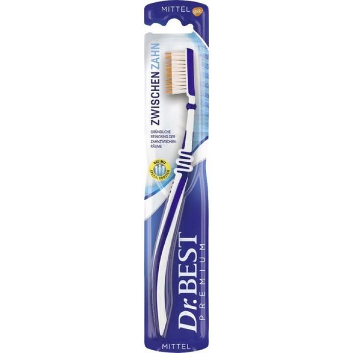 Dr.Best® межзубные промежутки зубная щетка с тонкими щетинками (средняя жесткость)