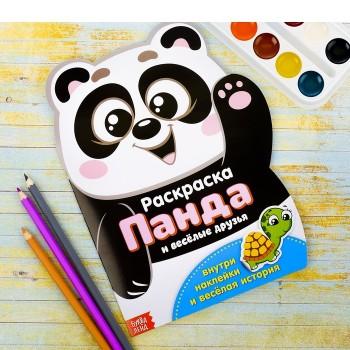 "Раскраска формовая с наклейками ""Панда"""
