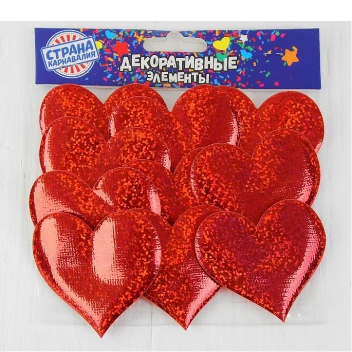 Сердечки декоративные (набор 12 шт.)