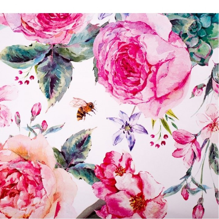 Бумага упаковочная глянцевая «Летние цветы», 70 × 100 см