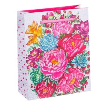 """Подарочный пакет """"Яркие цветы"""""""