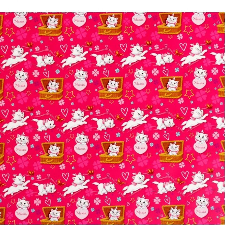 """Бумага упаковочная глянцевая Коты аристократы """"Милая"""", 70х100 см"""